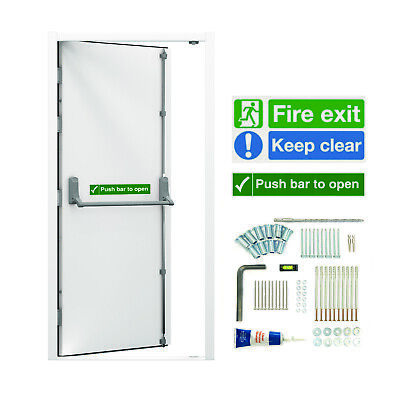 Security Fire Exit Doors Emergency Exit Escape Steel Door | High Security Option