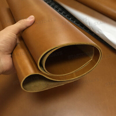 Thick Vintage light Brown Full Grain Leather Pieces Craft Cow hide Scrap 1.8-2mm