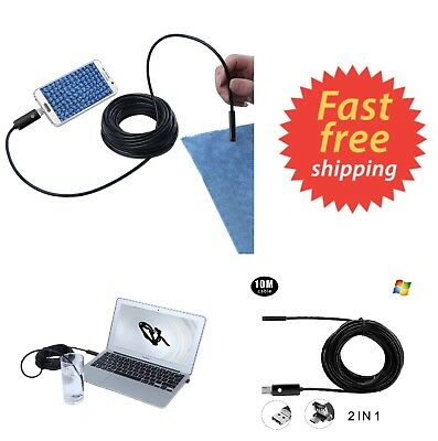 Pipe Inspection Waterproof HD Camera Endoscope USB 720P Video Sewer Drain 33ft