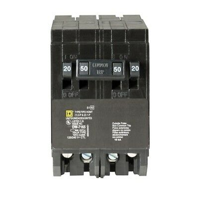 Circuit Breaker 2 Pole 50 Amp Square D Homeline Electrical System Protection