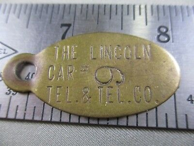 Lincoln Telephone And Telegraph Key Chain Tag