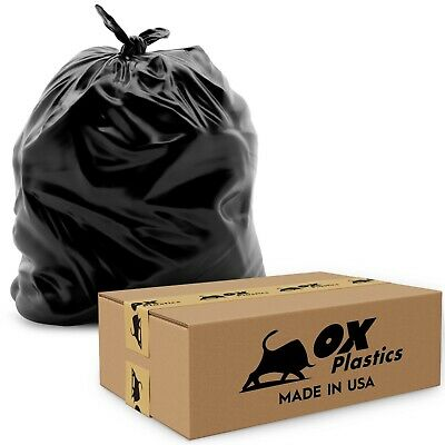 55 Gallon, 4mil Extra Heavy Duty Strength, Trash Can Liners, Large Garbage Bags