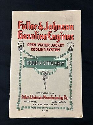 Fuller & Johnson Double Efficiency hit miss side shaft Gas Engine catalog No 10