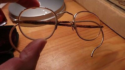 "Vintage Pair of Reading Glasses. Original Case. Embossed ""Theodore Hamblin Ltd""."