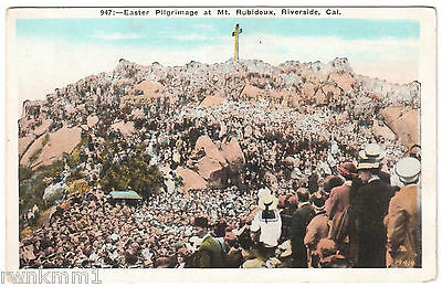 AK US USA Post Card Easter Pilgrimage at Mt. Rubidoux Riverside ungelaufen
