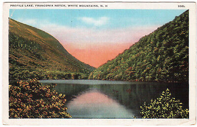 AK US USA Post Card Profile Lake Franconia Notch ungelaufen ca. 1950