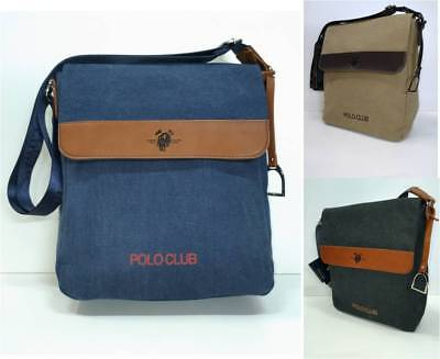 Tracolla borsello uomo tela tessuto canvas pattina tasche interne zip  cerniera 2a00f701cf7