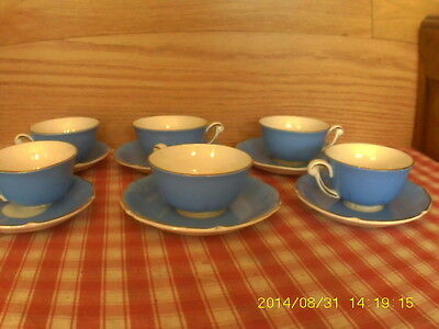 Sercice Ceranord Semi Porcelaine Trianon  6 Tasses Completes