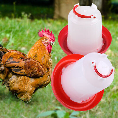 Auto Plastic Chicken Feeder Drinker for Poultry Chick Hen Quail Waterer 1.5/2.5L
