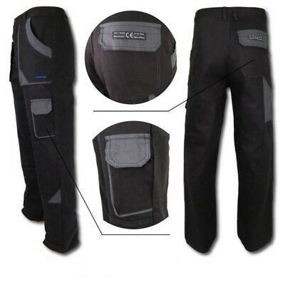 Work Trousers Mens Cargo Combat Style Heavy Duty Knee pads pockets Grey&Grey