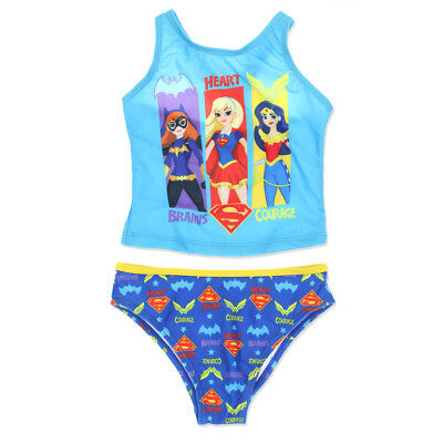 DC Super Hero Little Girls Tankini Swimsuit Swimwear 8824210HR