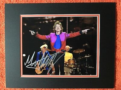 Mick Jagger Autographed 8x10  photo COA!  Rolling Stones  Matted to  11x14 frame