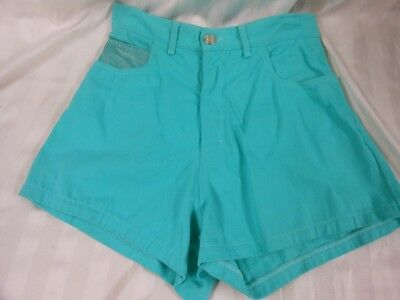 Vintage Cache High Waist Teal Blue Jean Shorts sz 6