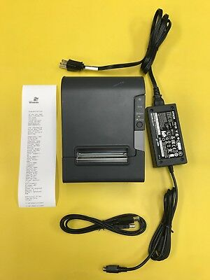 Epson TM-T88V M244A USB Thermal Receipt POS Printer AC Adapter + USB Cable
