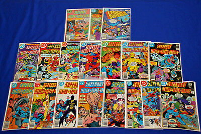 Superboy and the Legion of Super-Heroes 18 comic lot 235-261 VF