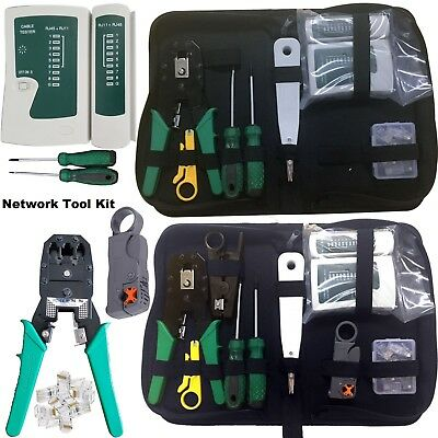 Network Rj45 Cable Kit Tool Tester Crimper Rj11 Ethernet Crimping Lan Punch Tool