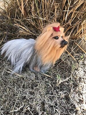REALISTIC Miniature Puppy Dog Furry Animal * Gift Idea * Doll Prop or Friend