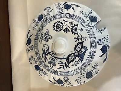 """J & G Meakin Nordic Onion Ironstone 9.5"""" Soup Tureen Lid Only (England)"""