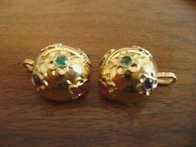 Cartier of Paris, Vintage18k yellow gold domed with rubies, sapphires & emerald