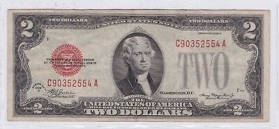 Series 1928 D Red Seal Two Dollars $2 United States Note (1)