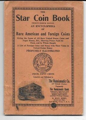 Antique Coin Price Guide,1908 The Star Coin Book,Numismatic Co.,Fort Worth Texas