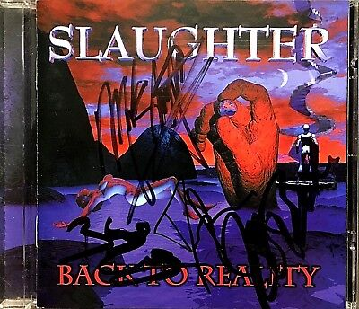 Slaughter - 1999 Back To Reality Autographed Cd Cover - Mark Slaughter No Disk