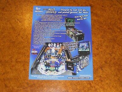 America's Most Haunted Spooky Pinball Promo Postcard