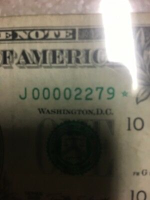 Rare Star Notes Low Serial Number $1 bill