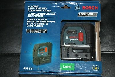 Bosch GPL 5 S Self-Leveling Alignment Laser NEW