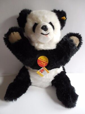 Vtg Stieff Molly Panda #0326/45 Plush Stuffed Bear Ear Button And Flag Brand New