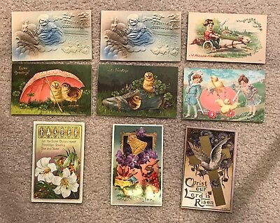 Lot of 45 (plus bonus) old postcards for different holidays, occasions and ERAs