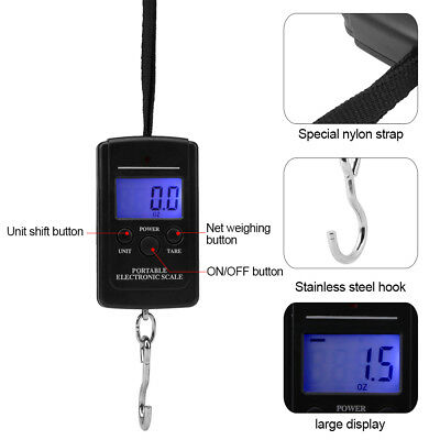 40kg Hanging Luggage Electronic Portable Digital Scale kg lb oz Weight Scale xi