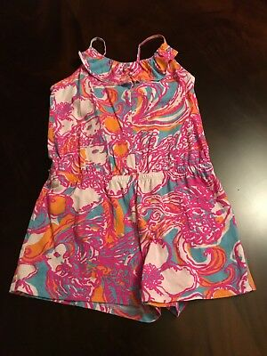 Lilly Pulitzer Girls Romper Size L 8 10