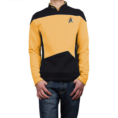Star Trek: The Next Generation TNG Yellow Uniform Only Coat Cosplay Costume C018