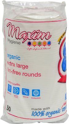 Organic Cotton Rounds, Maxim Hygiene Products, 50 Rounds