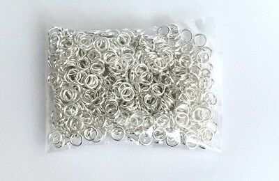 9mm Twisted Silver Plated Closed Jump ring Craft Beading Craft U193 30 Pcs