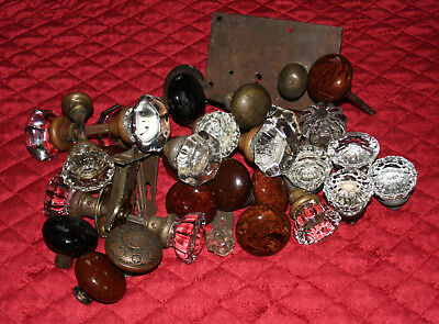 Glass Door Knob Lot Bennington Door Knob Lot Stunning Vintage