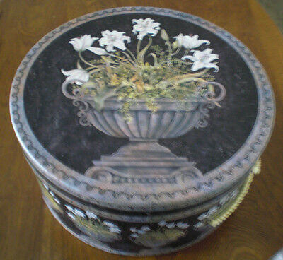 "Round Storage Box by Once Upon A Rose Vintage Collectible, 12"" dia X 6"""
