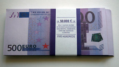 500 Euro 80pcs Paper Money FOR GAME
