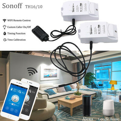 Sonoff TH16/TH10 Temperature Humidity Sensor Smart Wifi Remote Switch Monitor