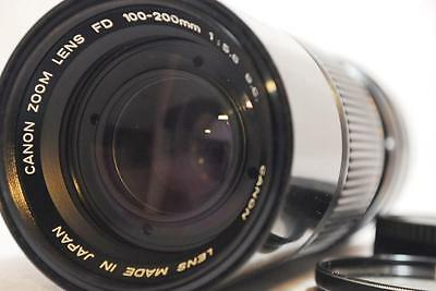 """NEAR MINT"" Canon Zoom FD 100-200mm F5.6 S.C. Lens w/Filter,R Cap From Japan"