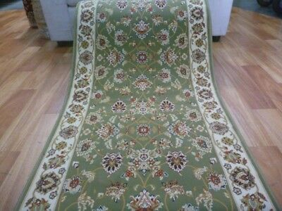 Soft High Quality Persian Design Hall Runner by the Meter Green Desouk Allover