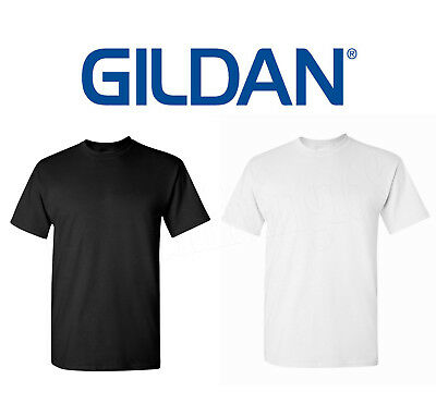 Wholesale 120 Gildan T SHIRT BLANK BULK LOT Black 60 Mix Match White Plain S-XL