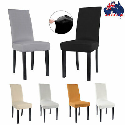 8Pcs Stretch Dining Chair Cover Removable Slipcover Dinning Cover AU Stock