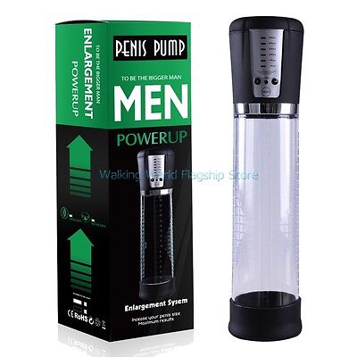 Male Electric Penis Pump Cock Rechargeable Enlarger Enlargement Enhancer Vacuum