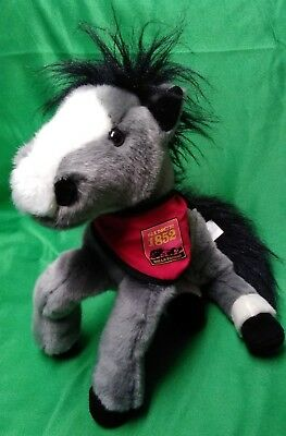 Wells Fargo Bank PRINCE Plush Legendary Pony Horse Grey Black White Stuffed