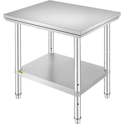 Stainless Steel Work Table Food Prep Table Kitchen Restaurant Bench 610x760mm