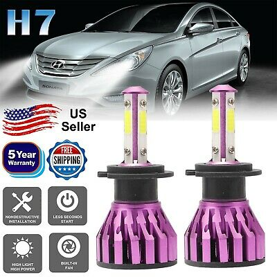 2×H7 LED Headlight 300W 30000LM Lamp Bulbs 6000K Super Bright For Hyundai Sonata