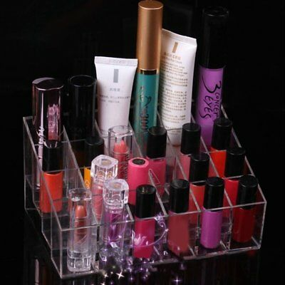 Cosmetic Display Stand Makeup Organizer Lipstick Storage Holder Box Show Shelf