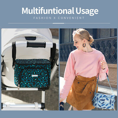 Baby Stroller Organizer Bags Spacious Holder Storage Carriage Bags 5 Colors SGR4